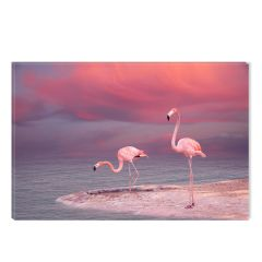 Tablou DualView Startonight Flamingo, luminos in intuneric, 60 x 90 cm
