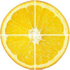 Set tablou DualView Startonight Portocala, luminos in intuneric, 60 x 60 cm (4 piese 30 x 30 cm)
