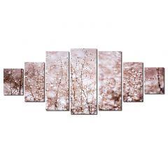 Set Tablou DualView Startonight Putina zapada, 7 piese, luminos in intuneric, 100 x 240 cm