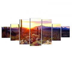 Set Tablou DualView Startonight Peisaj din Arizona, 7 piese, luminos in intuneric, 100 x 240 cm