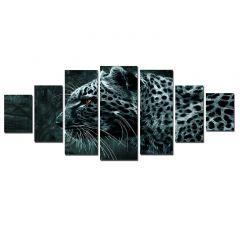 Set Tablou DualView Startonight Eleganta felina, 7 piese, luminos in intuneric, 100 x 240 cm