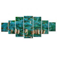 Set Tablou DualView Startonight Conuri, 7 piese, luminos in intuneric, 100 x 240 cm