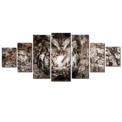 Set Tablou DualView Startonight Bufnita, 7 piese, luminos in intuneric, 100 x 240 cm