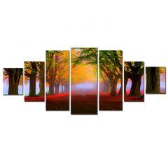Set Tablou DualView Startonight Drum de toamna, 7 piese, luminos in intuneric, 100 x 240 cm