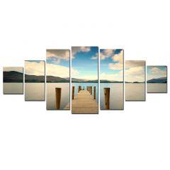 Set Tablou DualView Startonight Ponton, 7 piese, luminos in intuneric, 100 x 240 cm