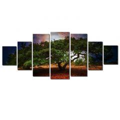 Set Tablou DualView Startonight Copac batran, 7 piese, luminos in intuneric, 100 x 240 cm
