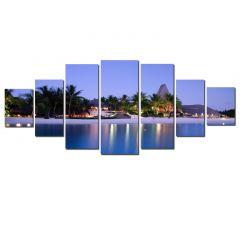 Set Tablou DualView Startonight Plaja romantica, 7 piese, luminos in intuneric, 100 x 240 cm