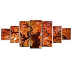 Set Tablou DualView Startonight Artar roscat, 7 piese, luminos in intuneric, 100 x 240 cm (1 piesa 40 x 100 cm, 2 piese 35 x 90 cm, 2 piese 30 x 60 cm, 2 piese 30 x 40 cm)