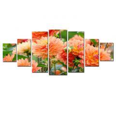 Set Tablou DualView Startonight Crizanteme, 7 piese, luminos in intuneric, 100 x 240 cm