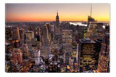 Tablou DualView Startonight Apus in Manhattan, New York, luminos in intuneric, 20 x 30 cm