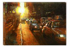 Tablou DualView Startonight New York Grunge, luminos in intuneric, 20 x 30 cm