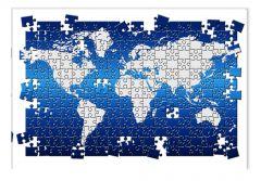 Tablou DualView Startonight Puzzle Harta Lumii, luminos in intuneric, 20 x 30 cm