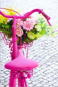 Tablou DualView Startonight Bicicleta roz, luminos in intuneric, 60 x 90 cm
