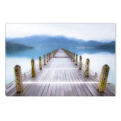 Tablou DualView Startonight Ponton spre lac, luminos in intuneric, 60 x 90 cm