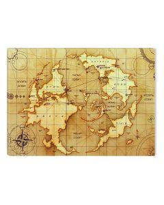 Tablou DualView Startonight Harta lumii veche, luminos in intuneric, 20 x 30 cm