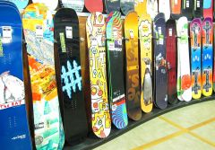 Fototapet Startonight Snowboard, luminos in intuneric, 3.66 x 2.56 m