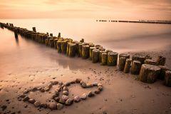 Tablou DualView Startonight Daydream Plaja Iubirii, luminos in intuneric, 20 x 30 cm
