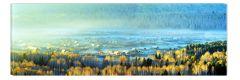 Tablou DualView Startonight Satul din vale, luminos in intuneric, 60 x 180 cm