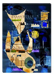 Tablou DualView Startonight Poveste albastra, luminos in intuneric, 40 x 60 cm
