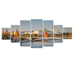 Set Tablou DualView Startonight Kremlin, 7 piese, luminos in intuneric, 100 x 240 cm