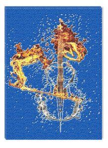 Tablou DualView Startonight Contrabass, luminos in intuneric, 20 x 30 cm