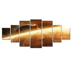 Set Tablou DualView Startonight Sateliti, 7 piese, luminos in intuneric, 100 x 240 cm