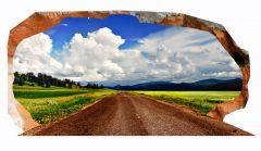 Fototapet 3D Startonight Drumul spre nori, luminos in intuneric, 1.50 x 0.82 m