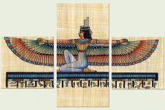 Set tablou DualView Startonight Zeite egiptene, luminos in intuneric, 60 x 90 cm (2 piese 30 x 30 cm, 30 x 60 cm)