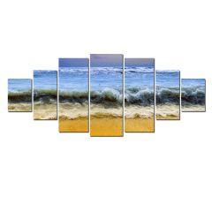 Set Tablou DualView Startonight Valuri, 7 piese, luminos in intuneric, 100 x 240 cm