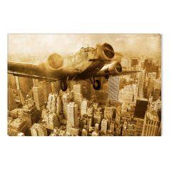 Tablou DualView Startonight Avion retro, luminos in intuneric, 60 x 90 cm