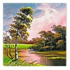 Tablou DualView Startonight Peisaj de vara, luminos in intuneric, 80 x 80 cm