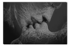 Tablou Alb-Negru Abstract Startonight, Adam si Eva, luminos in intuneric, 60 x 90 cm