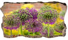 Fototapet 3D Startonight Flori mov, luminos in intuneric, 1.50 x 0.82 m