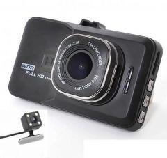 Camera auto dubla Full HD Soundvox™, 5 Mega, cu senzor de miscare. Dual lens vehicle BlackBox DVR