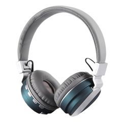 Casti Bluetooth FE-018 cu microfon, Over The Ear, Radio FM, Turcoaz
