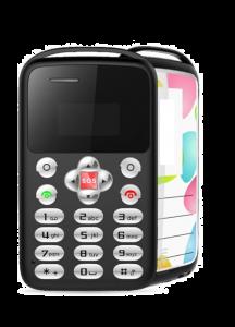 Telefon card AEKU M9 MINI, Bluetooth, 0.96-inch, ultra subtire 6 mm, Negru