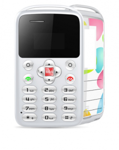 Telefon card AEKU M9 MINI, Bluetooth, 0.96-inch, ultra subtire 6 mm, Alb