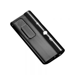 Bricheta Electrica Anti-Vant cu Incarcare USB, Pointer si Lanterna, Negru
