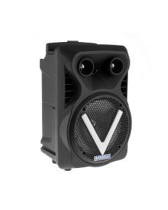 Boxa Activa Portabila Bluetooth, Soundvox BS-07, USB, TF/SD Card, Aux, Radio FM, Microfon si Lumini, Neagra