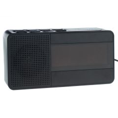 Radio Ceas Digital cu Alarma Happy Sheep CR-318, Functie Sleep, Snooze, AM, FM PLL, Negru
