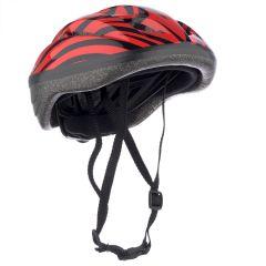 Casca Protectie Bike, pentru Tineret si Adulti, Sistem reglabil, Curele Barbie, Guri de Aerisire, 57-62 cm,  Rosu-Negru
