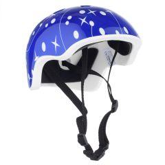 Casca Protectie Sport Copii, Curele Barbie, Guri de Aerisire, S ( 52-57 cm), Albastru-Alb