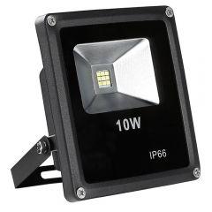 Proiector de lumina cu LED-uri de 10 W, 760 Lm, lumina de Zi Alba, 6000 K, Rezistent la Apa IP66, Negru