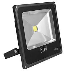 Proiector de Lumina cu LED-uri de 50 W, 3750 Lm, Lumina de Zi Alba, 6000 K, Rezistent la Apa IP66, Negru