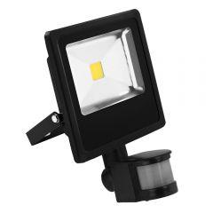 Proiector de Lumina LED cu Senzor de Miscare, Putere 30 W, 2400 Lm, Lumina de Zi Alba, 6000 K, Rezistent la Apa IP66, Negru
