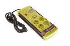 Prelungitor de Casa Guardian Shield, 4 Prize si 2 USB, Buton ON/OFF, Indicator Voltaj, 205 Verde