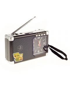 Radio Portabil cu USB, SD/TF Card, AUX, Meier M-200U, Negru
