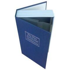 Seif Model Dictionar Carte Mare, cu o Cutie Secreta, Metalic, 270 x 70 x 200 mm, Albastru
