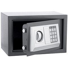 Seif Metalic cu Cifru Electronic si Cheie 30E, pentru Acte, Casa de Bani, Cutie de Valori, 380x300x300 mm, Negru