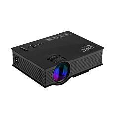 Mini Proiector LED, UNIC UC46+, HDMI, USB, VGA, Wi-Fi, Negru